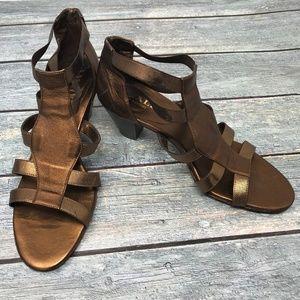 Women's Amalfi Italy Leather Strappy Sandal Heel 8